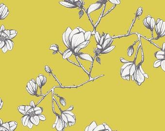 Magnolia Study Zest - Wild Bloom - Bari J - Art Gallery Fabric - 100% Quilters Cotton -  WBL-12036