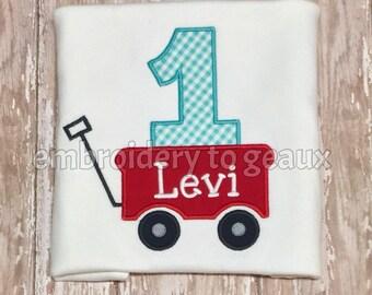 Red Wagon Birthday Shirt, Wagon First Birthday Shirt, Little Red Wagon Birthday Shirt, 1st Birthday Shirt, Boys Birthday Shirts
