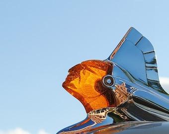 Sun Chief 2 - Retro Hood Ornament - Rustic Wall Art - 1950 Pontiac  - Retro Print - Vintage Car Photography - Garage Art - 8x10