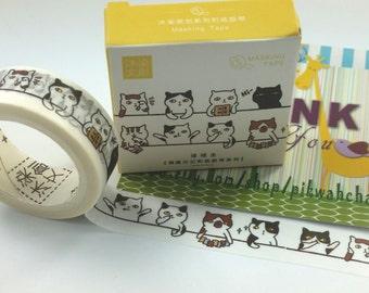 Funny Cat Washi Tape (7M)