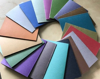 50 3x4 Metallic Color Journals Notebook 20 or 40 pages