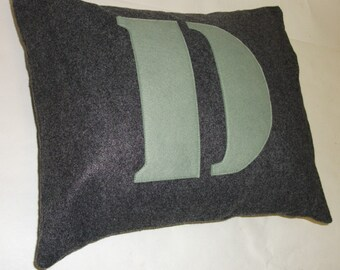 Custom Stencil Pillow Cover ANY INITIAL