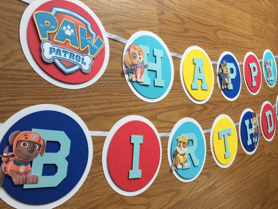 Paw Patrol Banner Party Birthday
