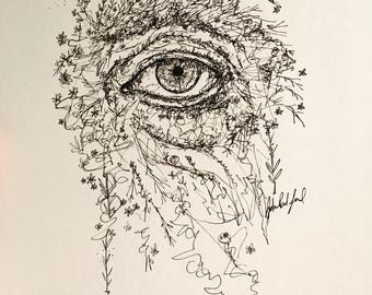 Garden | Pen and Ink Drawing | Original Art