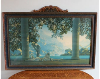 M5919 Authentic Maxfield Parrish 'Daybreak' Lithograph Original Art Print Large