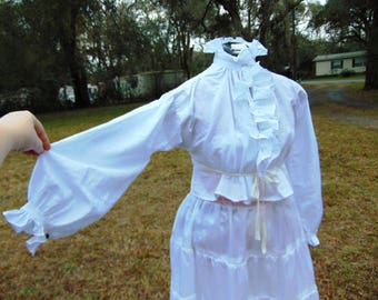 Custome 18th century Ladies' Riding Habit Shirt. Linen. Hand Stitched. Any Size
