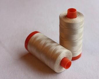 Aurifil  50wt Cotton Thread Light Sand #2000. 1422 yards