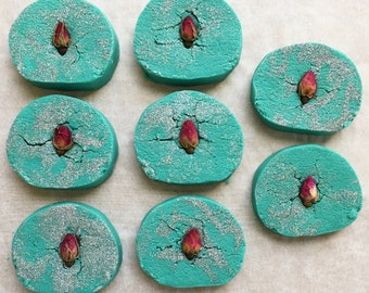 Peppermint Rose bubble bar | solid bubble bath