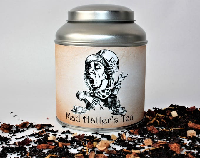 Featured listing image: Mad Hatter's Tea Caddy Gift - Literary Tea Collection - Tea Gift - Literary Tea Gift - Bookish Gift - Author Gift- Loose Leaf Tea - Tea
