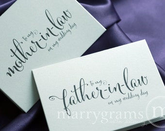 Wedding Card to Your Future Mother and Father in-law - Parents of the Bride and Groom Cards Mother-in-Law Gift Idea - CS07