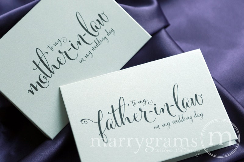 Wedding Card To Your Future Mother And Father In Law Parents