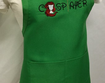 Ariel Cosplay Apron Sewing Cooking Embroidered
