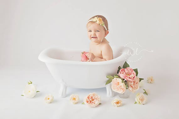 clawfoot baby bath tub. Gatsby Clawfoot Bath Tub  Vintage Style Cake Smash Birthday Photography Prop