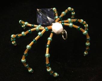 Orange and Green Spider Ornament