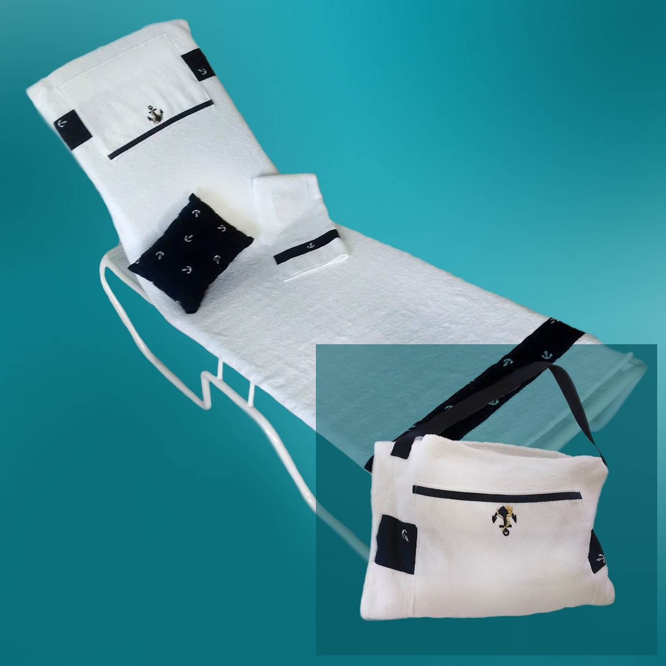 Lounge Chair Cover Converts To A Beach Or Pool Tote Bag