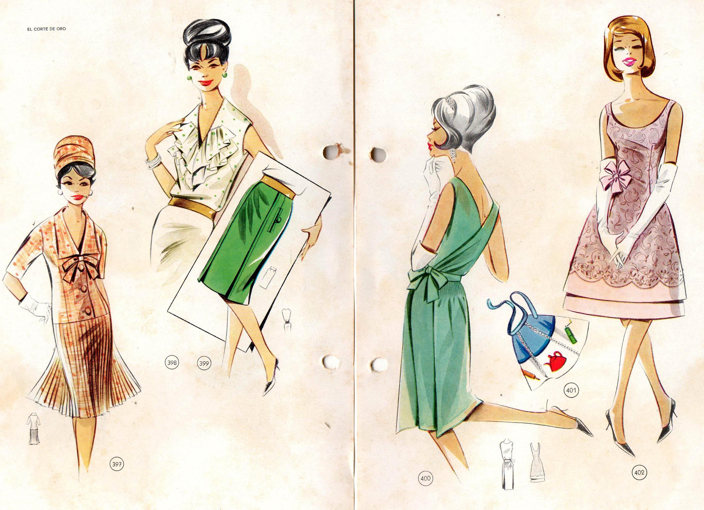 lutterloh goldene regel 1960er jahre vintage sewing pattern. Black Bedroom Furniture Sets. Home Design Ideas
