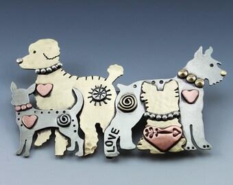 Custom Pet Jewelry, Custom Designed Pet Pin, Custom Designed Pet Necklace, Dog Breed Jewelry, Cat Breed Jewelry,Memorial Pet Jewelry, RP0673