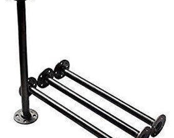 "Industrial Black Iron Pipe Table Legs ,INCLUDES 4 Complete Table Legs 1-1/2"" Diameter and 6"", 7"", 8"", 9"", 10"", 12"", 18"", 24"", 30"", 36"" ""DIY"""