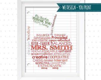 Printable Teacher Gift - Custom Apple for Teacher - Student Gift to Teacher - Last Minute Teacher Gift -Teacher Printable -Teacher ThankYou