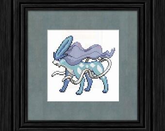 245 Suicune Pokémon Cross Stitch Pattern - Instant PDF Download