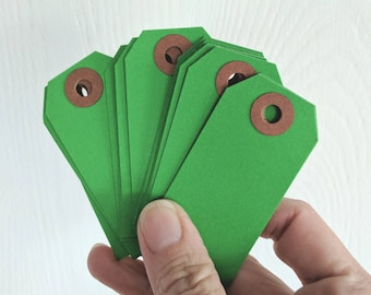 Small Green Hang Tags / 20 Pieces / Junk Journal / Daily Planner / Tags / Journal