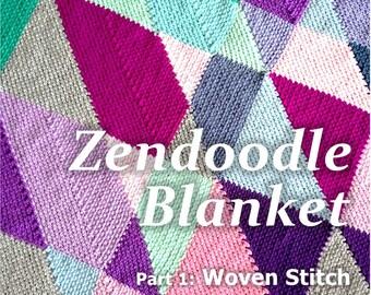 Crochet blanket Pattern tutorial/BabyLove Brand/CypressTextiles/Zendoodle Blanket Pattern/linen stitch modern geometric unique fun easy
