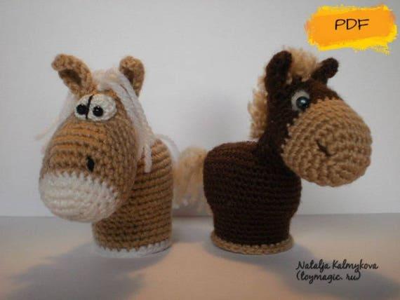 Easy Amigurumi Pdf : Small horses toy crochet pattern pdf small cute amigurumi