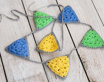Granny Party Bunting PDF Crochet Pattern