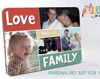 Family Photo, Wooden Photo Display, Photo Panel, Custom Retro Look, Family photo, Unique gift