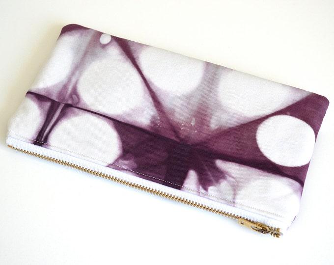 Shibori Pouch - Purple Pencil Case - Plum