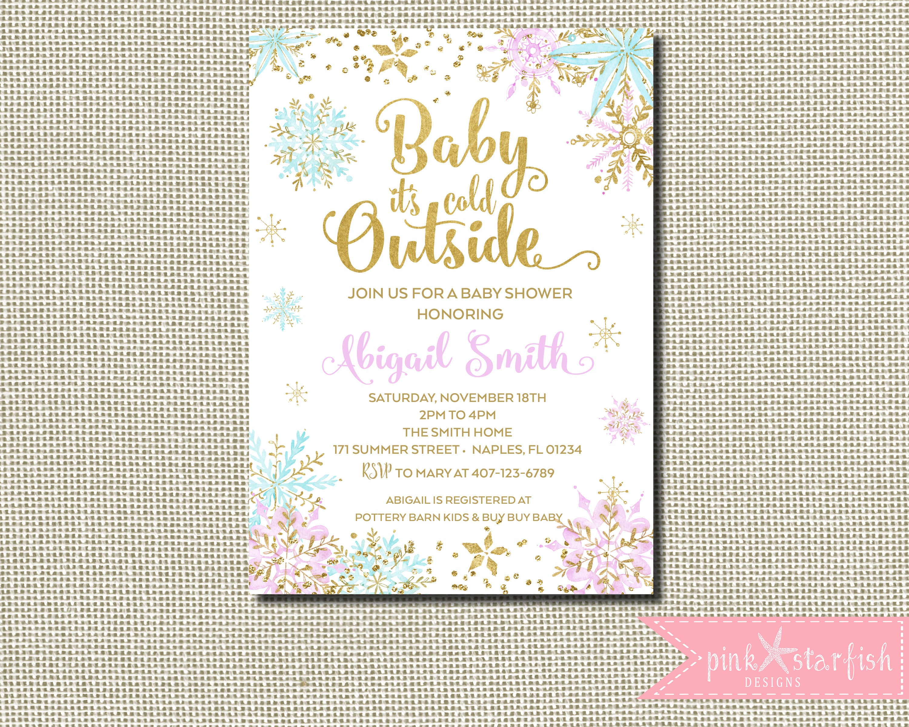 Winter Wonderland Baby Shower Baby Shower Invitation