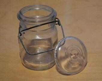 Mason Jar, Ball Ideal Mason Glass Jar With Lid, 1940s to 1950s