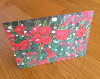 Poppy Field : Greeting Card
