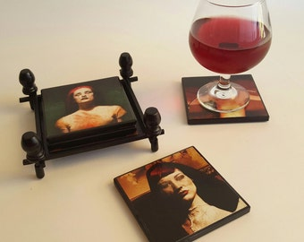 Goth Girl Horror Coasters