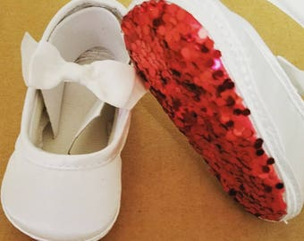 Baby shoes. Louboutin inspired red bottom shoes for baby /girl shoes /baby shower gift/new baby