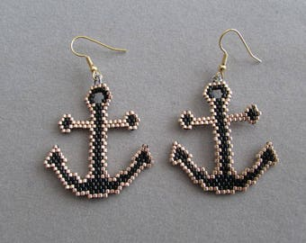 Anchor Beaded Earrings