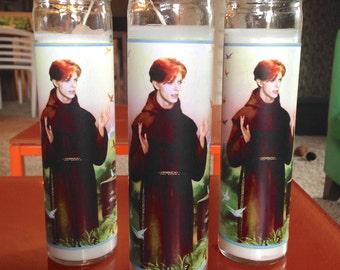 David Bowie Pop Culture Prayer Candle (1)