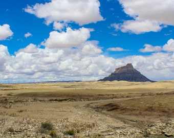 Factory Butte, Utah Photograph, Digital Photo Instant Download, 300 PPI