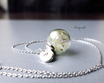Sterling Silver Necklace - Personalised Dandelions