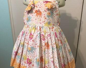 Girls Boutique Elephant Knot dress size 3T