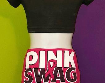 Pink Pride bellydance hipscarf