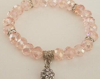 Crystal Pink Stones Bracelet
