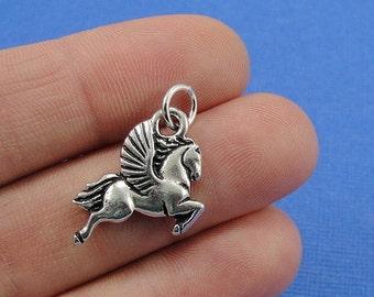 Pegasus Charm - Silver Plated Pegasus Charm for Necklace or Bracelet