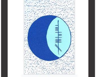 Moon (Gealach) Ogham 8x10 Print