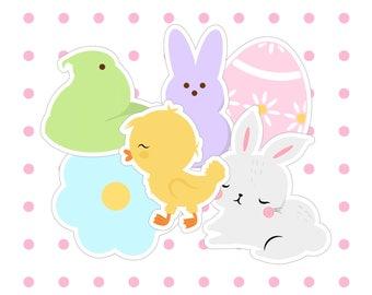 Original Hoppy Easter Die Cuts Pack Cardstock Sticker Bundle
