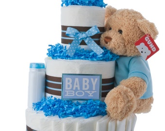 Darling Boy Baby Diaper Cake by Lil' Baby Cakes