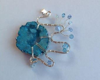 Blue Geode Pendant
