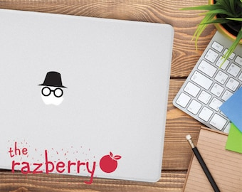 Incognito Mac Apple Logo Cover Laptop Vinyl Decal Sticker Macbook Decal Investigator Sherlock MacBook Vinyl Sticker Decal Macbook Decal