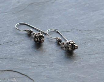 Bali style ball dangle earrings