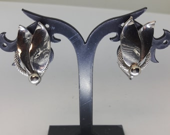 Silver Plated Vintage Clip On Earrings